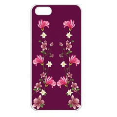 New Motif Design Textile New Design Apple Iphone 5 Seamless Case (white)