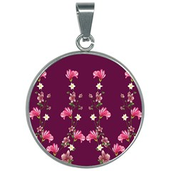 New Motif Design Textile New Design 30mm Round Necklace by Sapixe