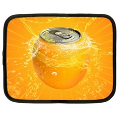 Orange Drink Splash Poster Netbook Case (xxl) by Sapixe