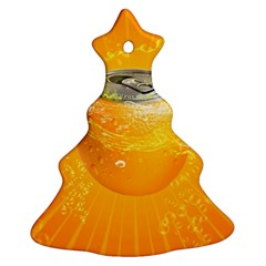 Orange Drink Splash Poster Ornament (christmas Tree)  by Sapixe