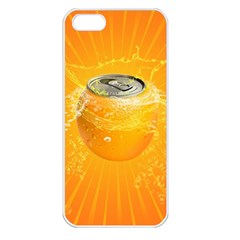 Orange Drink Splash Poster Apple Iphone 5 Seamless Case (white) by Sapixe