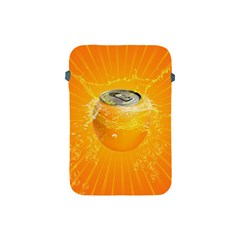 Orange Drink Splash Poster Apple Ipad Mini Protective Soft Cases by Sapixe