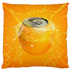 Orange Drink Splash Poster Standard Flano Cushion Case (one Side) by Sapixe