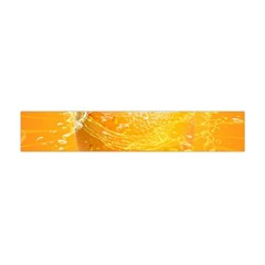 Orange Drink Splash Poster Flano Scarf (mini) by Sapixe