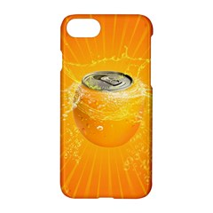 Orange Drink Splash Poster Apple Iphone 7 Hardshell Case by Sapixe