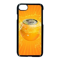 Orange Drink Splash Poster Apple Iphone 8 Seamless Case (black) by Sapixe