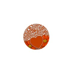 Flower Floral Heart Background 1  Mini Buttons