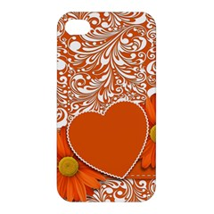 Flower Floral Heart Background Apple Iphone 4/4s Premium Hardshell Case by Sapixe