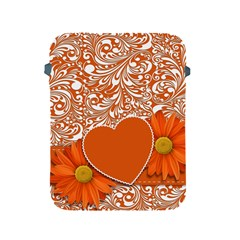 Flower Floral Heart Background Apple Ipad 2/3/4 Protective Soft Cases