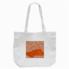 Flower Floral Heart Background Tote Bag (white)