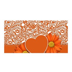 Flower Floral Heart Background Satin Wrap