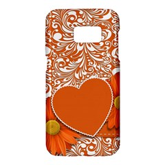 Flower Floral Heart Background Samsung Galaxy S7 Hardshell Case