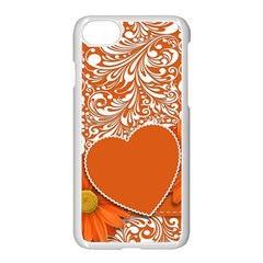 Flower Floral Heart Background Apple Iphone 7 Seamless Case (white)