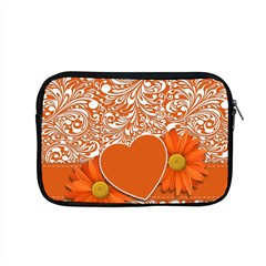 Flower Floral Heart Background Apple Macbook Pro 15  Zipper Case