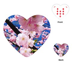 Flower Cherry Wood Tree Flowers Playing Cards (heart) by Sapixe