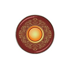 Badge Gilding Sun Red Oriental Hat Clip Ball Marker (4 Pack)