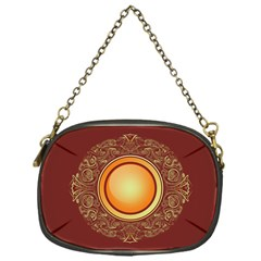 Badge Gilding Sun Red Oriental Chain Purse (one Side)