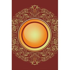 Badge Gilding Sun Red Oriental 5 5  X 8 5  Notebook