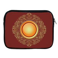 Badge Gilding Sun Red Oriental Apple Ipad 2/3/4 Zipper Cases by Sapixe