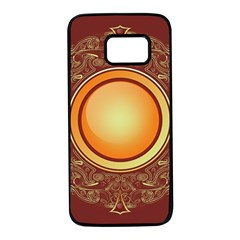 Badge Gilding Sun Red Oriental Samsung Galaxy S7 Black Seamless Case by Sapixe