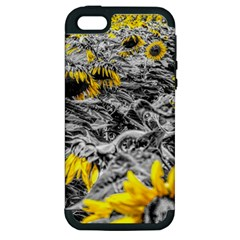 Sunflower Field Girasol Sunflower Apple Iphone 5 Hardshell Case (pc+silicone)