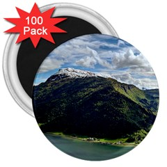 Panoramic Nature Mountain Water 3  Magnets (100 Pack) by Sapixe