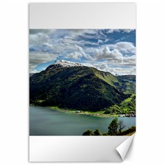 Panoramic Nature Mountain Water Canvas 24  X 36  by Sapixe