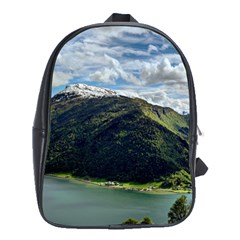 Panoramic Nature Mountain Water School Bag (xl)