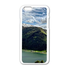 Panoramic Nature Mountain Water Apple Iphone 6/6s White Enamel Case by Sapixe