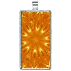 Kaleidoscopic Flower Rectangle Necklace