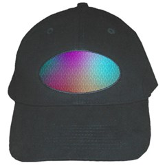 Blue And Pink Colors On A Pattern Black Cap