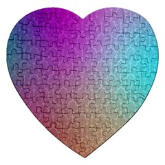 Blue And Pink Colors On A Pattern Jigsaw Puzzle (heart)