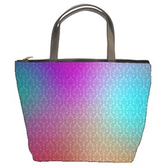 Blue And Pink Colors On A Pattern Bucket Bag
