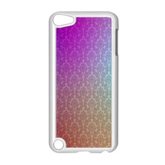 Blue And Pink Colors On A Pattern Apple Ipod Touch 5 Case (white)