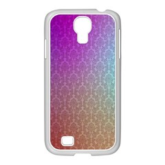 Blue And Pink Colors On A Pattern Samsung Galaxy S4 I9500/ I9505 Case (white)
