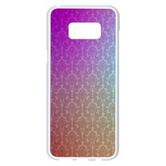 Blue And Pink Colors On A Pattern Samsung Galaxy S8 Plus White Seamless Case