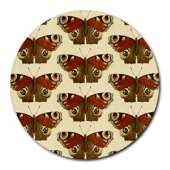 Butterfly Butterflies Insects Round Mousepads by Jojostore