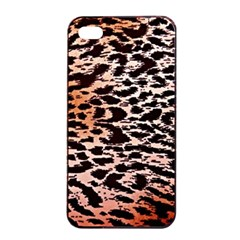 Tiger Motif Animal Apple Iphone 4/4s Seamless Case (black) by Jojostore