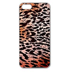 Tiger Motif Animal Apple Seamless Iphone 5 Case (clear) by Jojostore