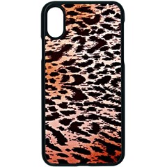 Tiger Motif Animal Apple Iphone X Seamless Case (black) by Jojostore