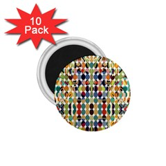 Retro Pattern Abstract 1 75  Magnets (10 Pack)  by Jojostore