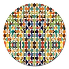 Retro Pattern Abstract Magnet 5  (round) by Jojostore