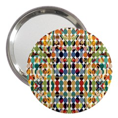 Retro Pattern Abstract 3  Handbag Mirrors
