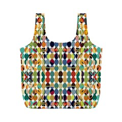 Retro Pattern Abstract Full Print Recycle Bag (m) by Jojostore