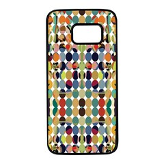 Retro Pattern Abstract Samsung Galaxy S7 Black Seamless Case by Jojostore