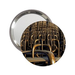 Fractal Image Of Copper Pipes 2 25  Handbag Mirrors by Jojostore