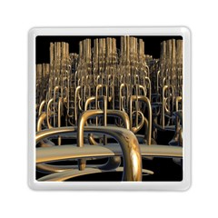 Fractal Image Of Copper Pipes Memory Card Reader (square)