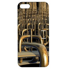 Fractal Image Of Copper Pipes Apple Iphone 5 Hardshell Case With Stand