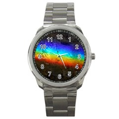 Rainbow Color Prism Colors Sport Metal Watch