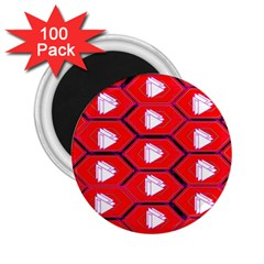 Red Bee Hive 2 25  Magnets (100 Pack)
